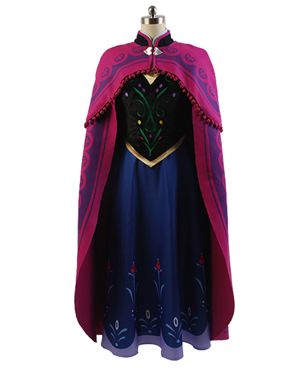 2017 princess anna princess dress princess anna costume adult snow grow princess anna Halloween Carnival Cosplay Costume Sets
