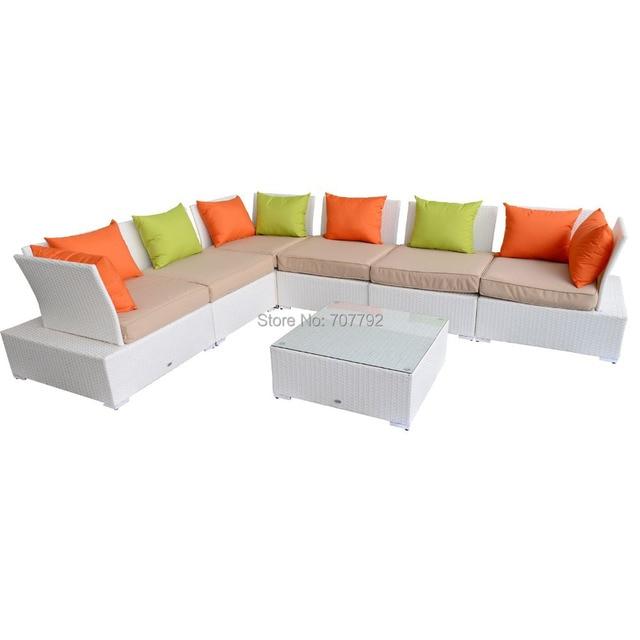 2017 Hot Luxury Garden Outdoor Rattan Wicker Corner Sofa Set