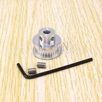 1 шт. GT2 28Т Алюминий ременный шкив 28 зубчиков 2 мм Шаг 5 мм/6 мм диаметр 7 мм Ширина для 3D-принтеры