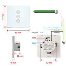 Tuya Smart Life EU WiFi Roller Shutter Curtain Switch for Electric Motorized Blinds with Remote Control Google Home Aelxa Echo