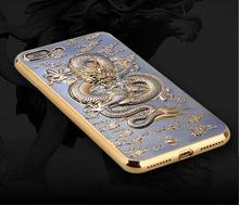 3D-Case with Dragon for iPhone 7, 7 Plus
