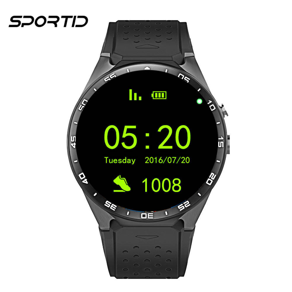 Original KW88 with GPS 3G Wifi Smart Watch Phone Support Android 5.1 OS MTK6580 Support SIM Card Men Watch Heart Rate Monitor smart phone watch 3g 2g wifi zeblaze blitz camera browser heart rate monitoring android 5 1 smart watch gps camera sim card