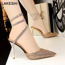 731f8ebd Primavera nuevos zapatos de mujer Zapatos de tacón alto de moda de mujeres  Sexy bombas estilo romano, las mujeres sandalias Blin.