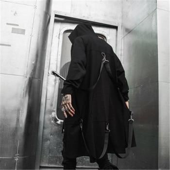 Autumn Men Darkness Wizard Cloak Hoodies Sweatshirt Owen Gothic Man Oveisize Zip Graffiti Clothes High Street Catwalk Coat