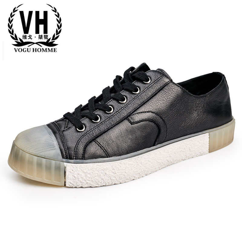 men casual shoes 2018 new shoes male British spring and autumn all-match cowhide breathable sneaker men casual Leisure shoes цена