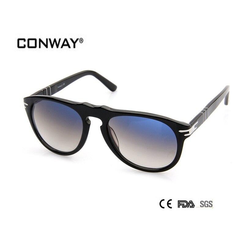 CONWAY 2017 mode acétate lunettes de soleil hommes conception top qualité lunettes de soleil lunettes de soleil ombre dégradé lunettes CN0002S-BLACK-GREY