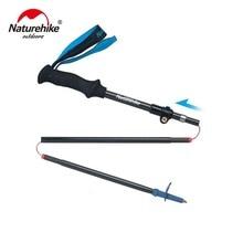 Naturehike Carbon Fiber 5 Sections Foldable Adjustable Trekking Poles Ultralight Walking Hiking Sticks 1 Pcs цена