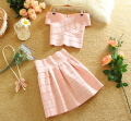 New Stylish sweet suit women with a blouse and a skirt short style