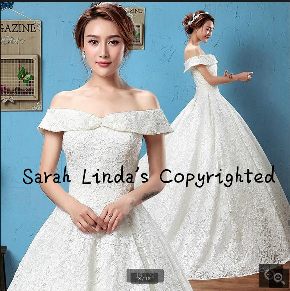New designer 2016 white lace ball gown wedding dress real picture wedding dress court train sweetheart neck bridal gowns