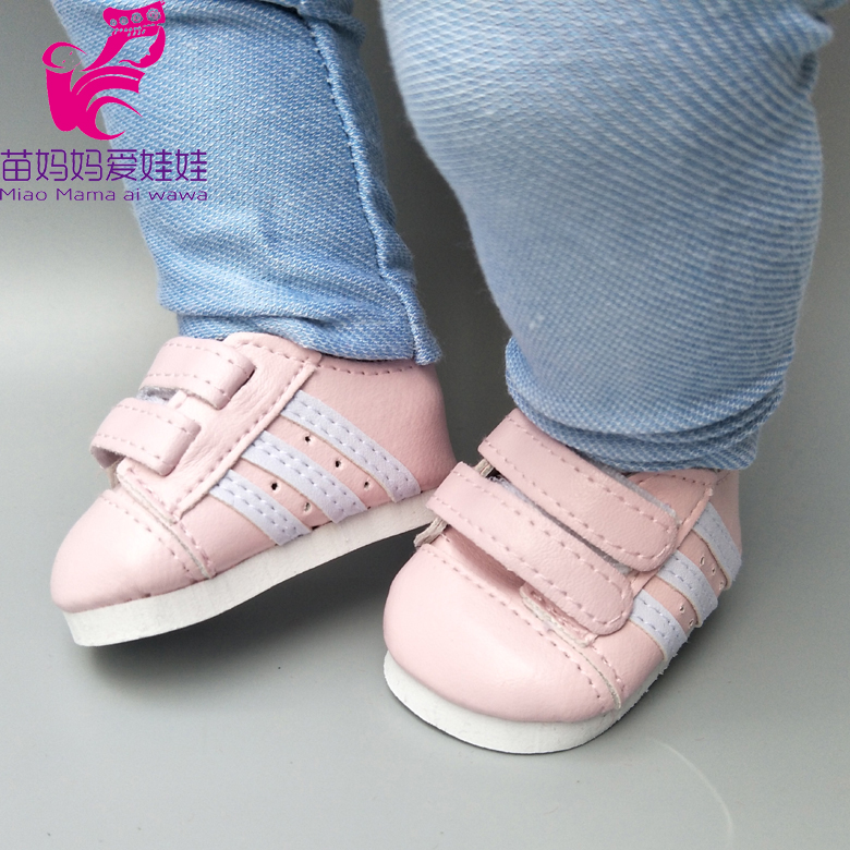 Baby Doll Shoes For 43cm Born Baby Doll Shoes Sneackers Fits For 18 Inch Dolls Shoes Toy Boots Doll Accessories