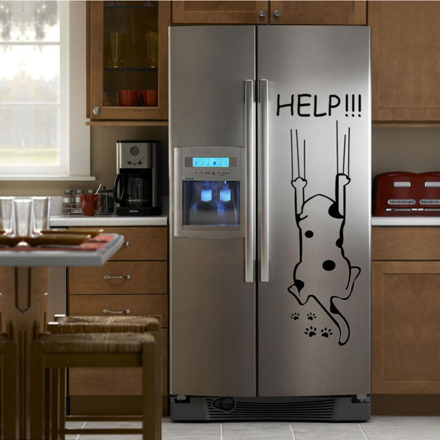 """Help!!!"" Funny Cat Quote DIY Wall Sticker 4"