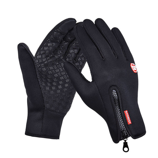 Men Winter Leather Gloves...