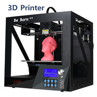 20178 Newest High Precision Desktop Level 3D Printer With Free Filament Big Print Size 3 D Printer With LCD Screen Free Shipping