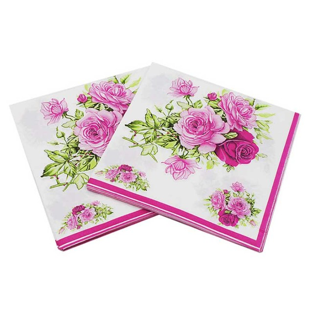 20 pcsset cute colorful rose paper napkin papers flower festive 20 pcsset cute colorful rose paper napkin papers flower festive party tissue napkins decoupage mightylinksfo