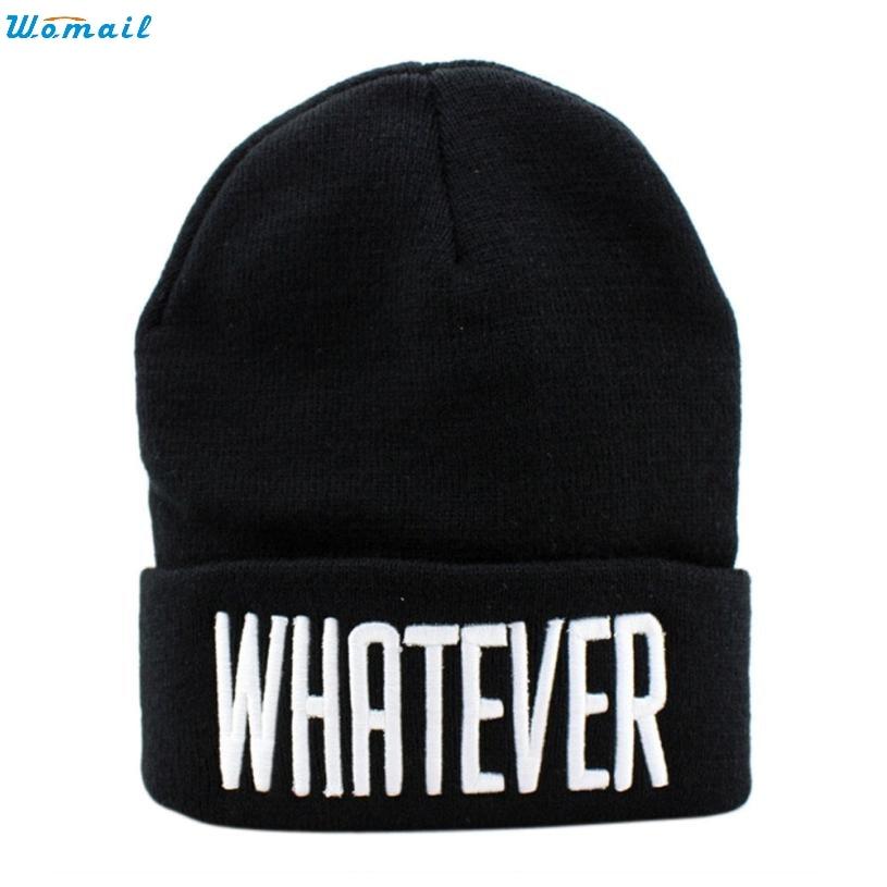 2016 Hot Sale Winter Black Whatever Skullies Beanies Hats And Snapback Men And Women Caps Good-looking JUN 7 skullies