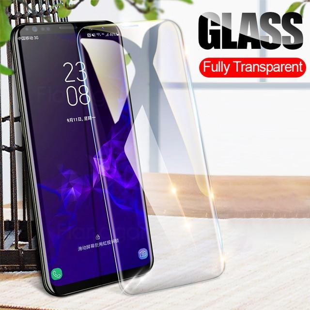 Flanagan 9 H 2.5D Kính Cường Lực Dành Cho Samsung Galaxy Samsung Galaxy A7 A6 A8 J6 Plus 2018 Tấm Kính Bảo Vệ Màn Hình Cho Samsung galaxy A3 A5 A7 Phim
