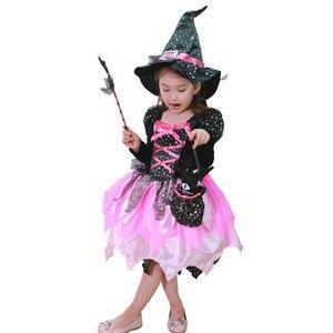 Image 5 - ילדי בנות LED אור מכשפה קוספליי תלבושות ילדים שלב ביצועי ליל כל הקדושים Masquerade מפלגה זוהרת שמלת פסטיבל פורים