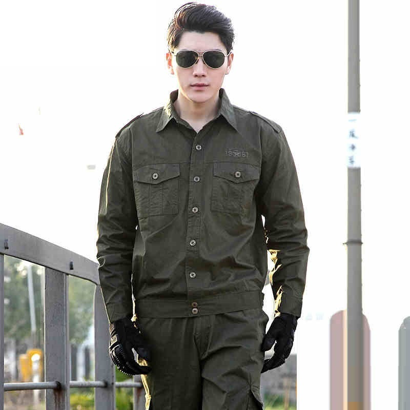 (10 Set-Top&Pant) Military Uniform Shirt 101th Airborne Commando Uniforms Camouflage Suit Fan Of Male Combat Uniform Army Coat