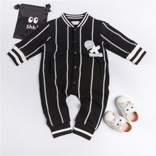 EnkeliBB Clearance Striped Baby Boys Rompers Full Sleeve Black Jumpsuit Autumn Spring Toddler Boy Clothes Fashion Cotton Outwear