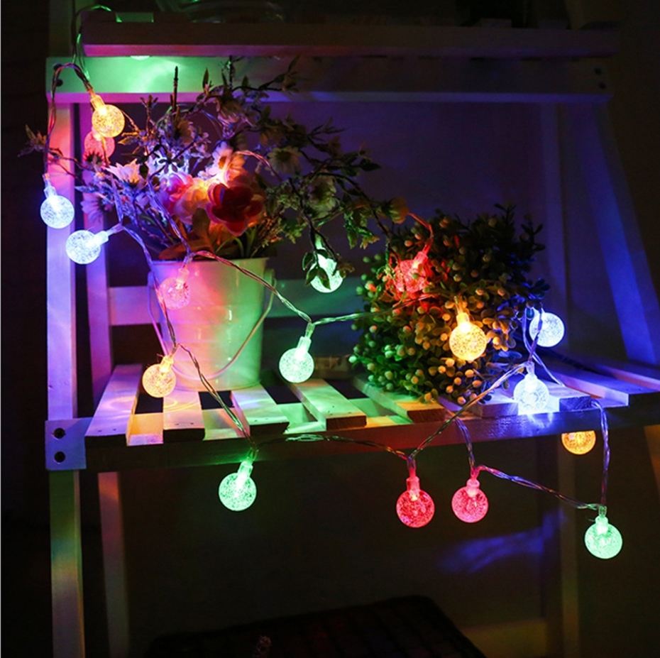 YINGTOUMAN 2018 Bubble Ball Battery Christmas String Lights Lamp Garden Decoration for Home Outdoor Party Wedding 3/5m 20/50LED