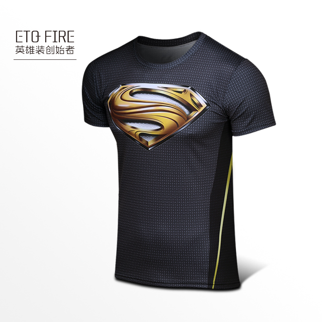 superman t shirt black and gold
