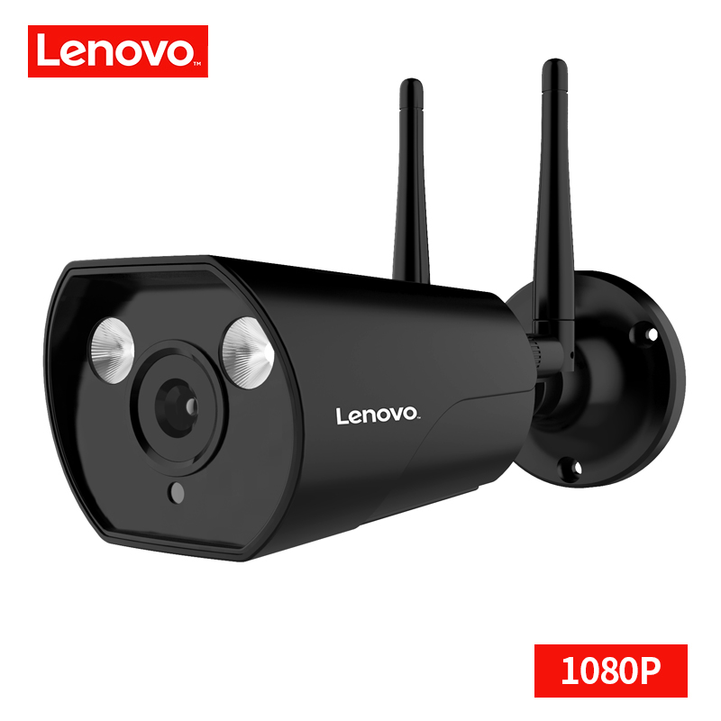 LENOVO double antenne caméra IP ONVIF 1080 P caméra de vidéosurveillance étanche extérieure HD Vision nocturne Wifi caméra de Surveillance sans fil