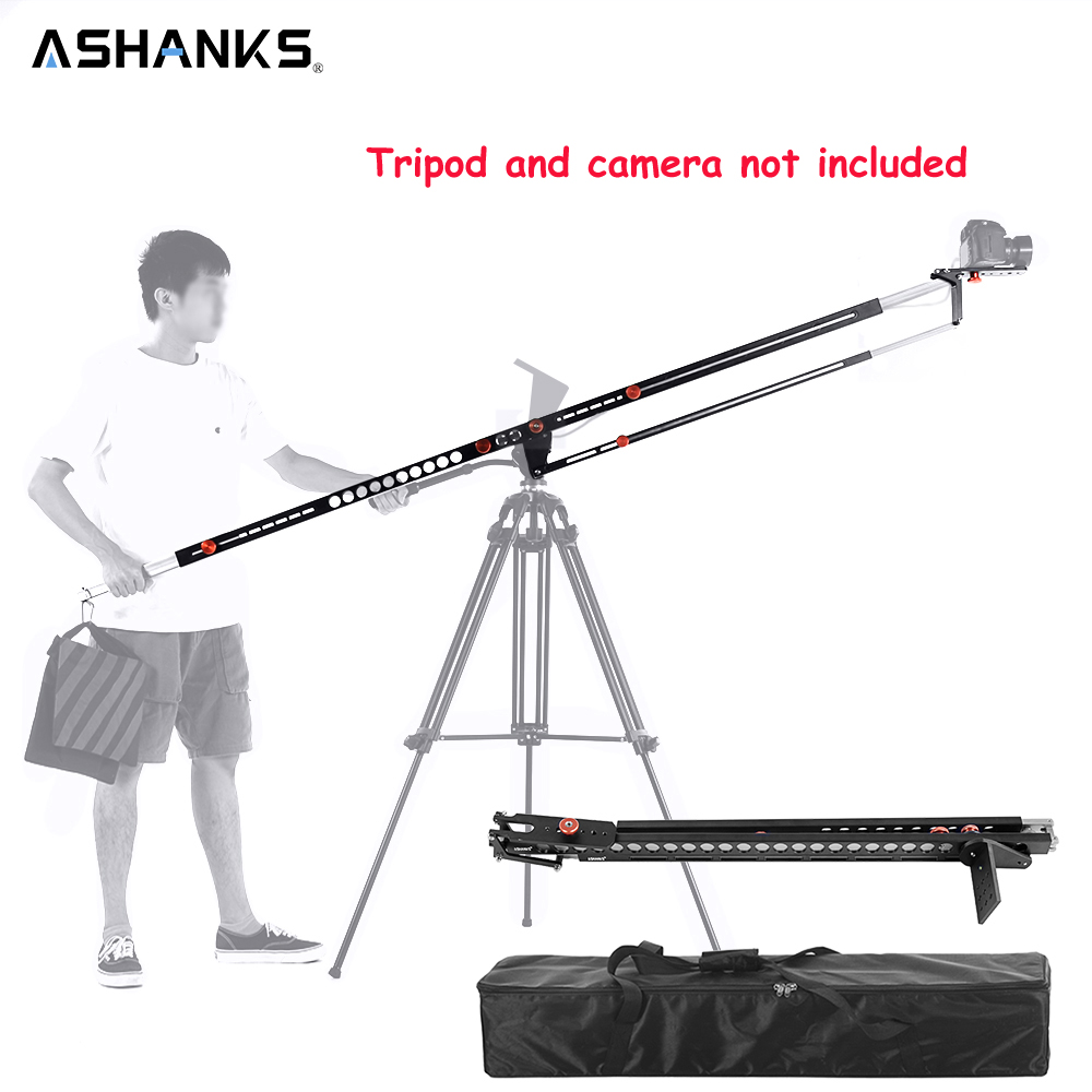 ASHANKS photographie pliable potence grue aluminium Pro Portable Fotografica DSLR vidéo potence bras caméra grue Machine avec sac de transport