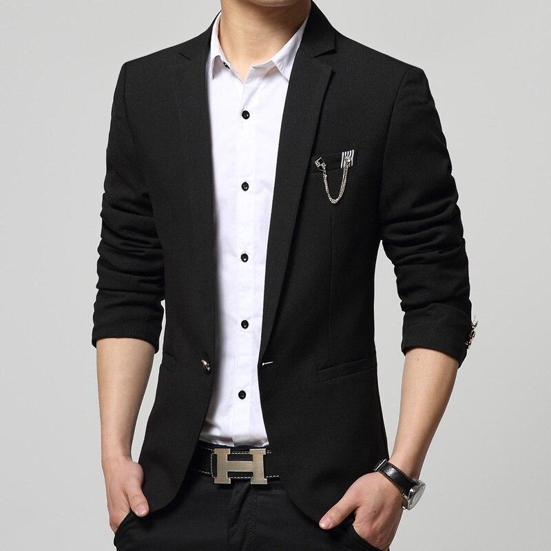 ba0556907d7 HOT New Spring Autumn Fashion Brand Men Blazer Men Trend Jeans Suits Casual  Suit Jacket Men Slim Fit Suit Male Top Coat