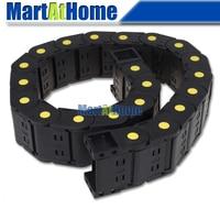 ARGEDO Negro Plástico Mejorado 1 M Longitud 25x38/50/57mm Completo Cerrado/Puente-tipo de Cable de Cadena de Arrastre Portador para la Máquina DEL CNC