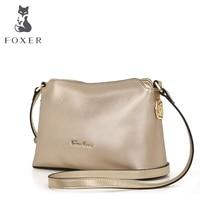 Foxer النساء أزياء جديدة بسيطة حقيبة crossbody حقيبة حقيبة النمط الصيني حقيبة كتف صغيرة