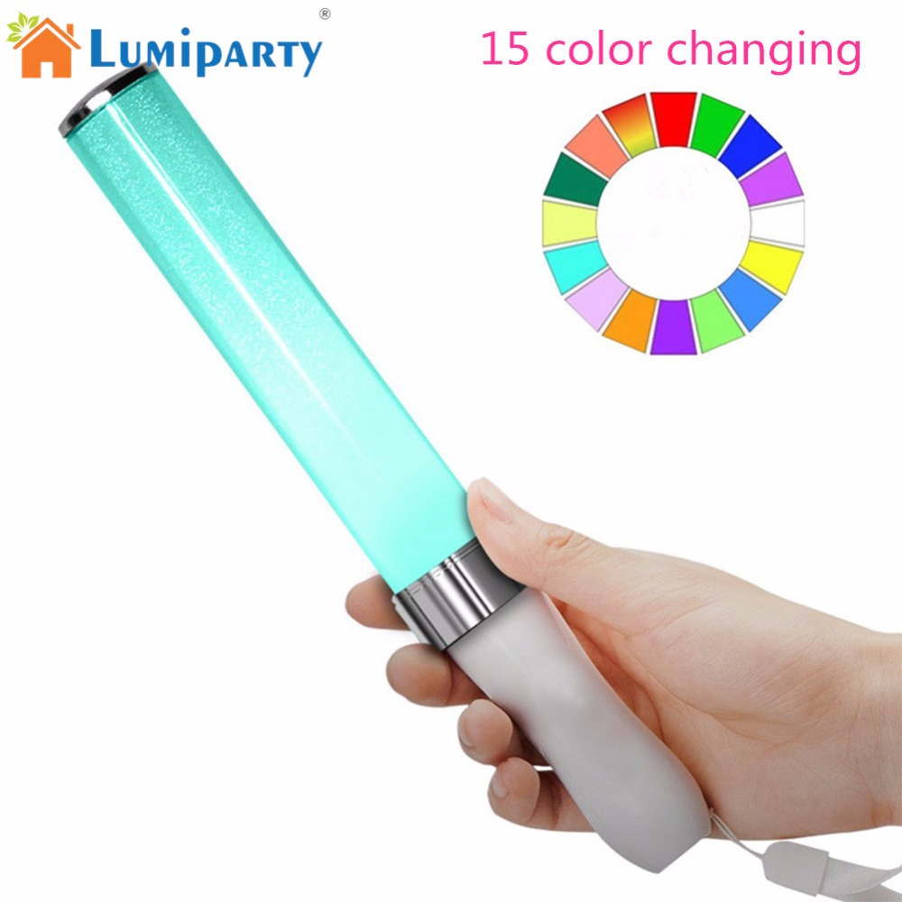 LumiParty Vocal Concerts Glow Sticks LED 15 Colors Changing Light Stick Party Magic Hot Camping Chemical Fluorescent jk30 longkeeper 6 colors led light flash baseball caps fashion led lighted glow club party sports black fabric travel hats chapeu