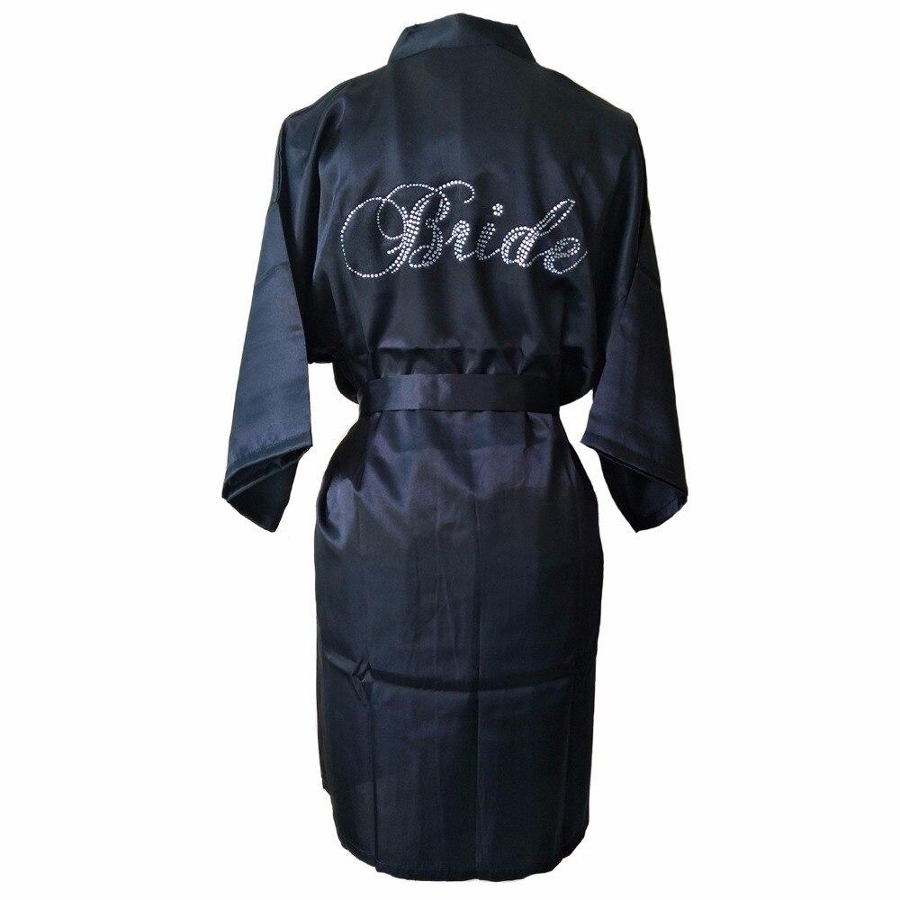 2018 Sexy Silk Robes Women Satin Robes Mini Bathrobe Summer Bride Kimono Robe  Bridesmaids Sleepwear White Lace ... 3a3b5b2fc