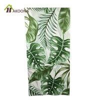 HAKOONA Planta Tropical Folha de Lótus Impressão Toalha De Banho de Fibra Ultrafina Toalha de Praia Novo 75*150 cm