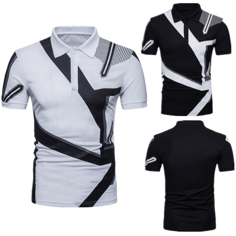 ZOGAA Summer Men   Polo   Shirt Short Sleeve Casual Cotton Contrast Color   Polo   Shirt Male Lapel Slim Fit   Polo   Shirt 2019 Male Tops