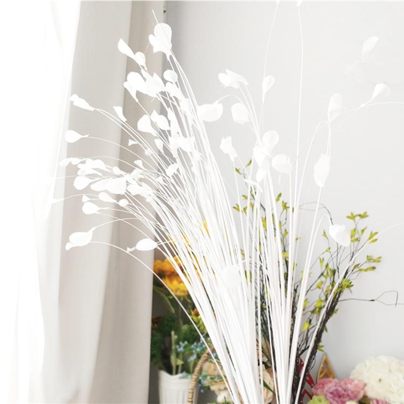 5 Pz/lotto Canna Foglie Bianco Pavone Erba Simulazione Fiore Di Farfalla T Taiwan Sistemazione Matrimonio Decorazione Floreale Puntelli Strada Dolorante