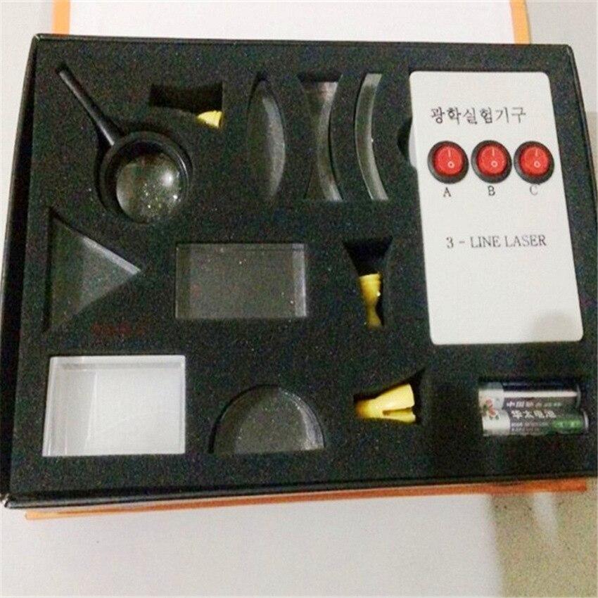 1 Set High School Physics Optical Experiment Box Scientific Experiment Equipment Prismatic Lens Concave Lens Kit optical equipments experiments concave convex lens prism set physical optical kit laboratory equipment apr20 30