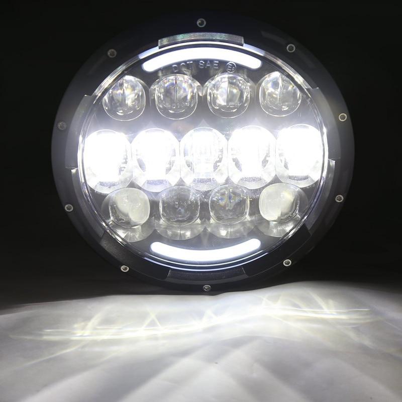 105 W LED Koplampen voor Jeep JK 7 INCH Ronde led Hoge/Dimlicht Hoofd Lamp LandRover Defender 90 & 110 - 5