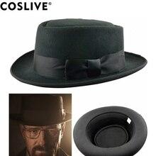 Coslive крутая черная шляпа во все тяжкие Волтер Белый Косплей шляпа хайзенберга свинина пирог Кепка косплей костюм аксессуары Рождественский подарок
