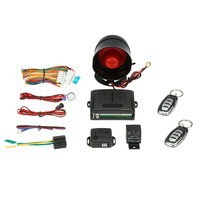 1 Way Car Alarm System Vehicle Security System Protection Alarm Auto With Siren 2 Keychain Button