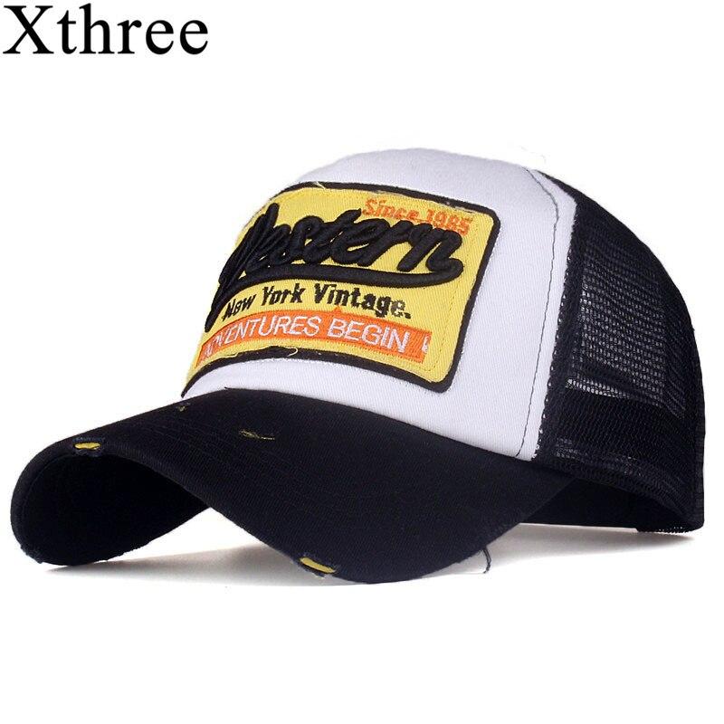 [Xthree] sommer snapback hut baseball-cap mesh cap billige kappe casquette knochen hut für männer frauen casual gorras