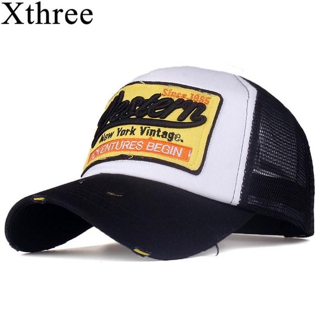 585289f97a44 [Xthree] verano gorra de béisbol gorra de malla gorra barata casqueta  sombrero de hueso para hombres mujeres casual gorras