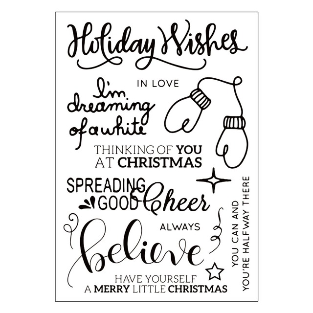 Christmas Rubber Stamp