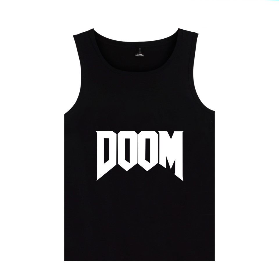 First-person Shooter Game DOOM Tank Tops Men Women Summer Clothing DOOM DILLA Print Tank Tops Vest image