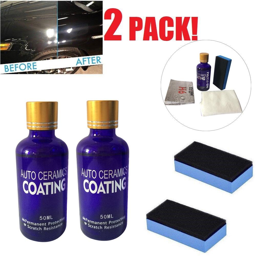 2 pièces 50 ml voiture céramique MR. FIX 9 H vernis Nano verre manteau anti-rayures Auto H9 dureté Polysiloxane Nano matériaux soin multicolore