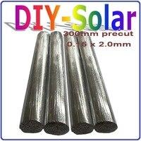 0.15*2.0 ملليمتر الخلايا الشمسية تبويب سلك 300 ملليمتر قبل القطع ، 156 ملليمتر بولي الخلايا الشمسية أحادية pv الشريط ، 1 كيلوجرام الخلايا الشمسية الأ...