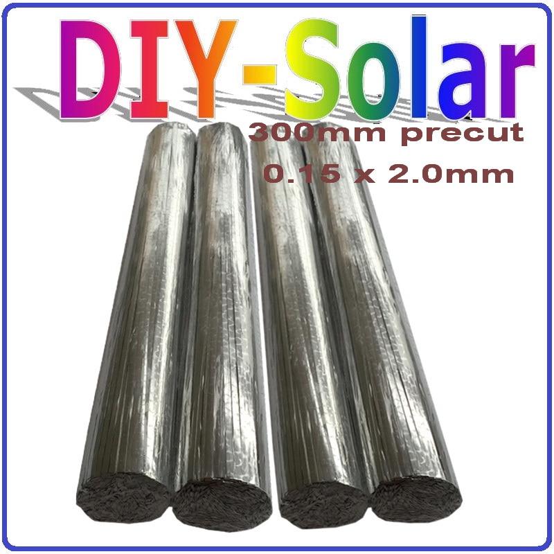 0.15*2.0mm zonnecel tab draad 300mm voorgesneden, 156mm Mono Poly Zonnecel PV Lint, 1 kg Zonnecel Solderen Draad diy zonnepanelen-in Zonnecellen van Consumentenelektronica op  Groep 1