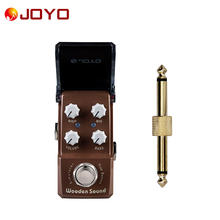 NEW Guitar effect pedal JOYO Acoustic Simulator Wooden Sound Ironman series mini pedal VCA technology JF-323 + 1 pc connector