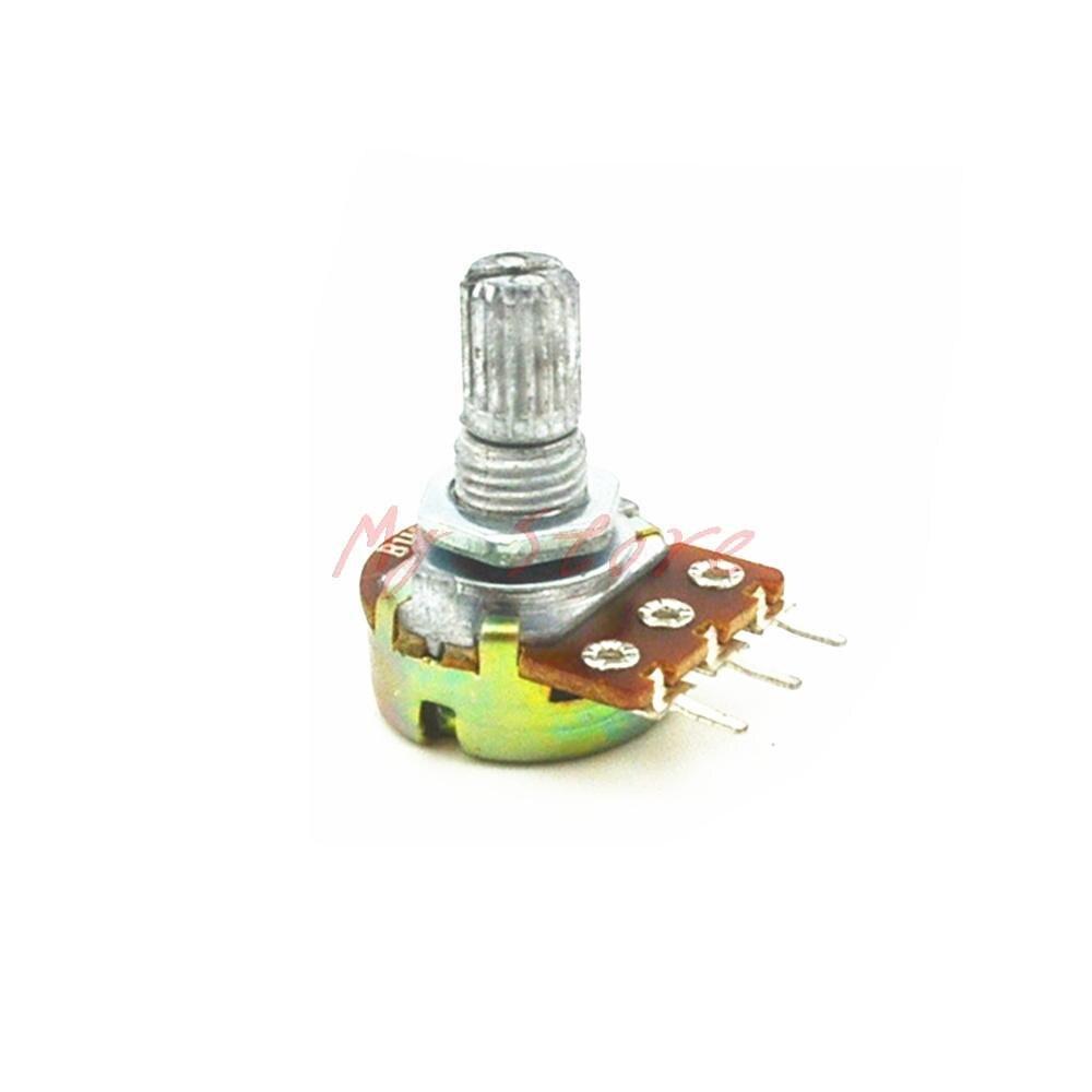 5pcs-wh148-model-linear-rotary-taper-potentiometer-pot-200k-b200k-ohm-3pin