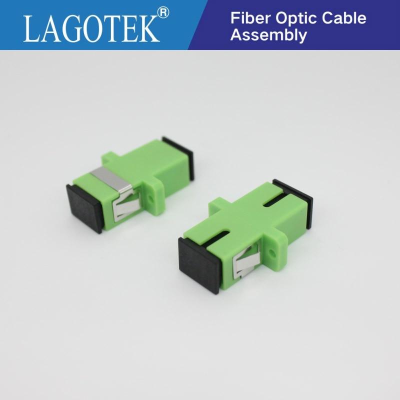 500PCS/LOT SC APC Simplex Single-mode Fiber Optic Adapter SC Optical Fiber Coupler SC APC Fiber Flange SC Connector