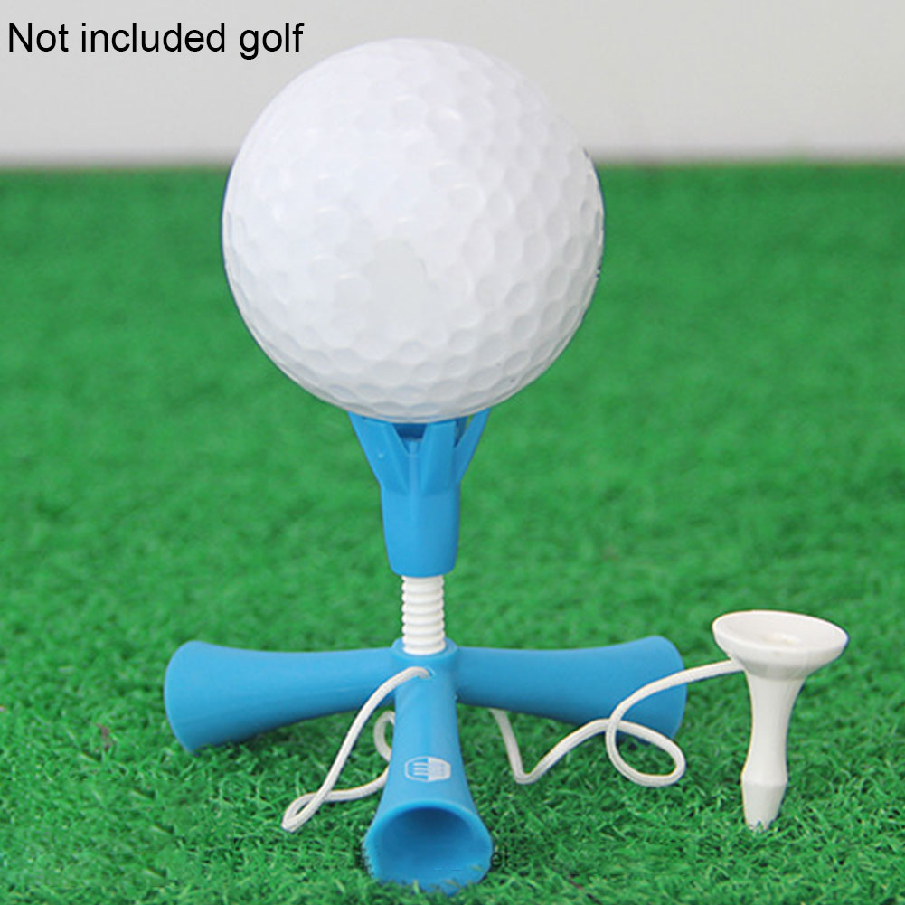 Easy Sport Self Standing Golf Tee Rotatable Tripod Anti-flying Accessories Aids Mini Training Adjustable Height Ball Holder